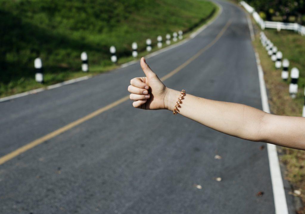 hitchhiking forearm