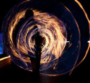photoshopped sparkler light swirls