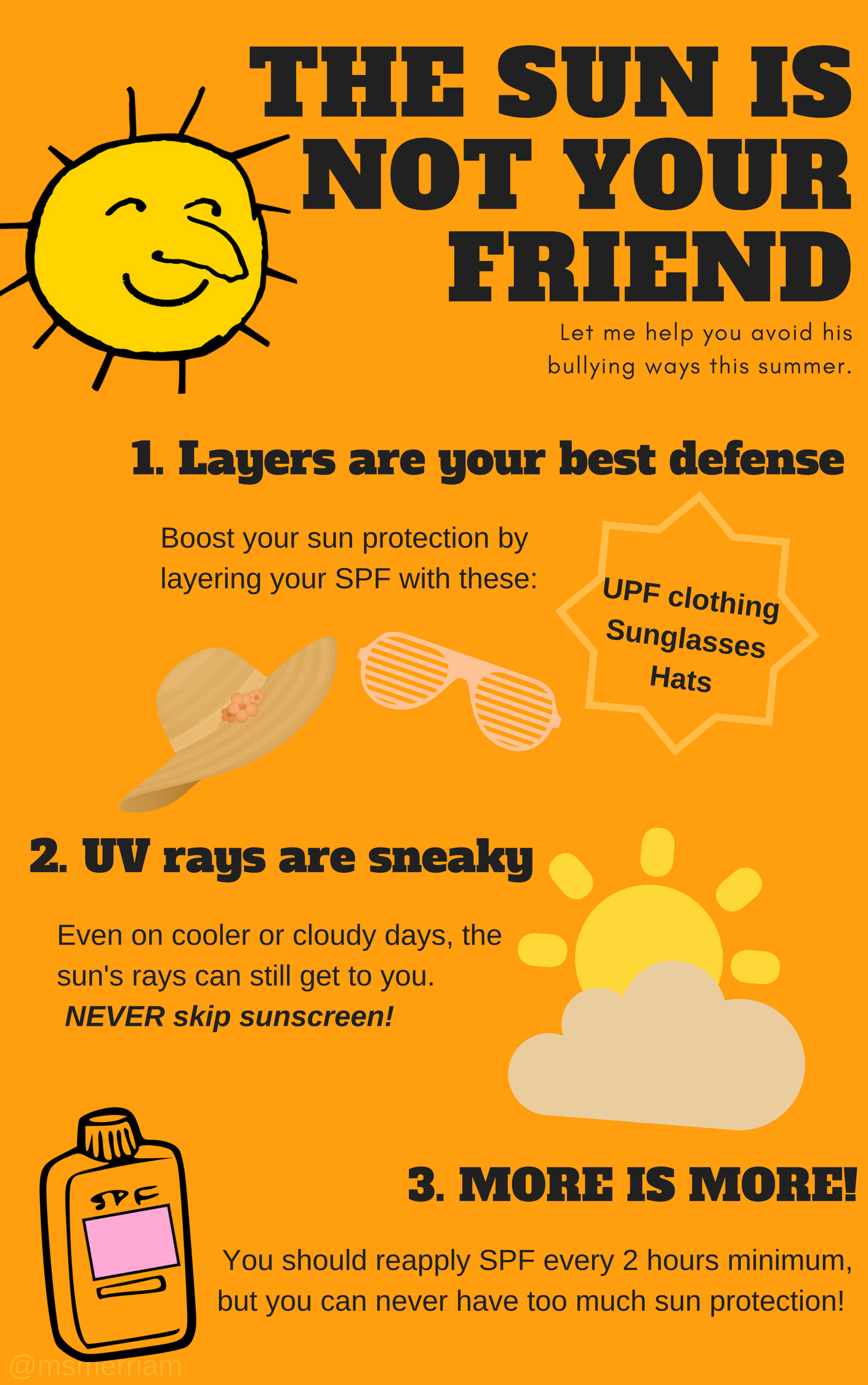 sun safety infographic