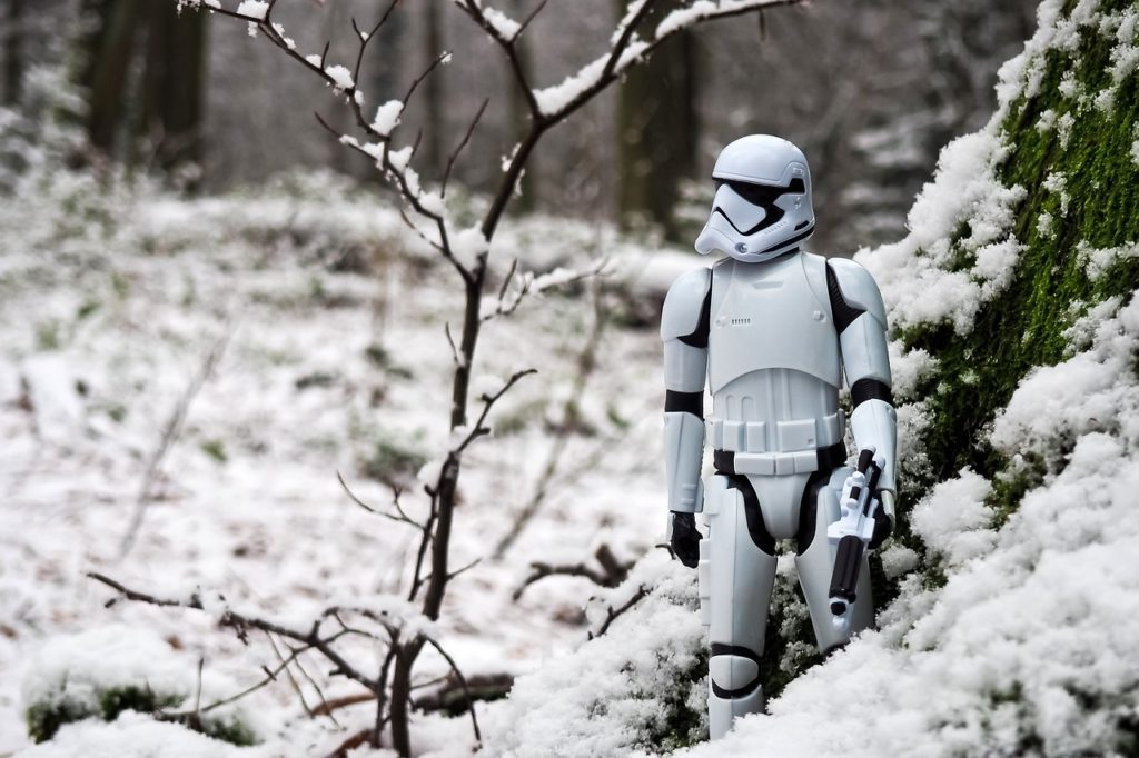 storm trooper in the snow